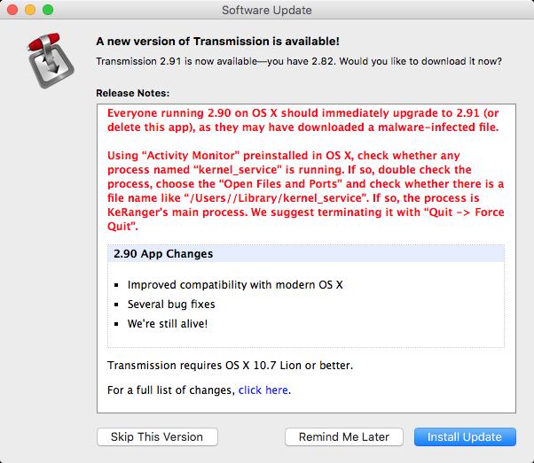 Ransomware Mac Transmission
